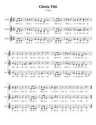 Gloria Tibi By Michael Kenneth Fabian Digital Sheet Music For Voice Ssa Download Print S0 541302 From Michael Kenneth Self Published At Sheet Music Plus