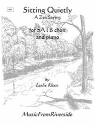 Sitting Quietly for SATB and piano