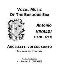 VIVALDI Antonio: Augelletti voi col canto, aria from the cantata, arranged for Voice and Piano (E minor)