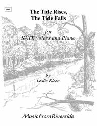 The Tide Rises, The Tide Falls for SATB and piano