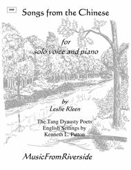 Songs from the Chinese for voice and piano