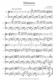 Habanera from Carmen for string duet (viola and cello)
