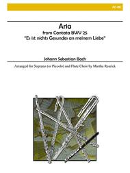Aria from Cantata BWV 25 for Flute Choir