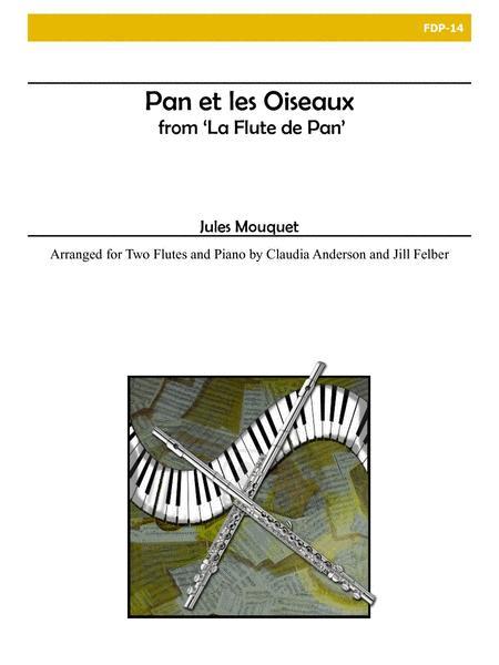 Pan et les Oiseaux from 'La Flute de Pan' for Two Flutes and Piano