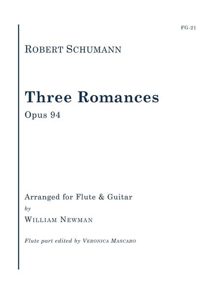 Three Romances, Op. 94 for Flute and Guitar