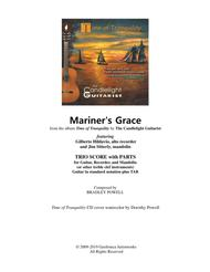 Mariner's Grace - Trio for Guitar, Recorder, and Mandolin (or flute) - SCORE with PARTS