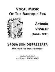 """VIVALDI Antonio: Sposa son disprezzata, aria from the opera """"Bajazet"""", arranged for Voice and Piano (E minor)"""