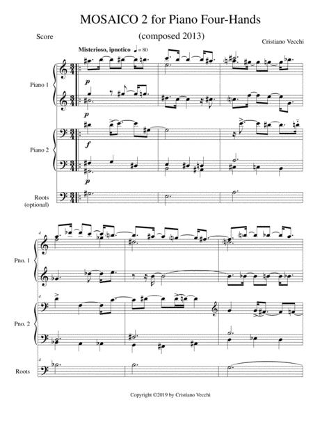 MOSAICO 2 for Piano Four-Hands