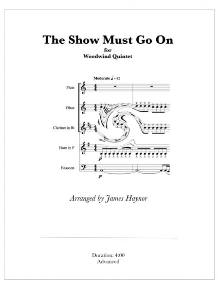 The Show Must Go On for Woodwind Quintet