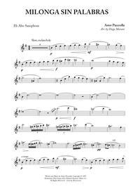Milonga Sin Palabras for Alto Saxophone and Piano