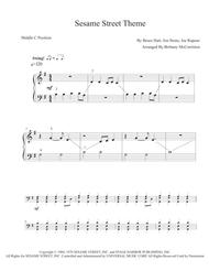Sesame Street Theme - Five Finger Piano with Teacher Duet