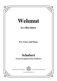 Schubert-Wehmut,Op.22 No.2,in e flat minor,for Voice&Piano