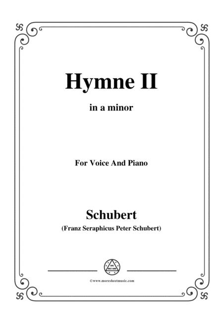 Schubert-Hymne(Hymn II),D.660,in a minor,for Voice&Piano