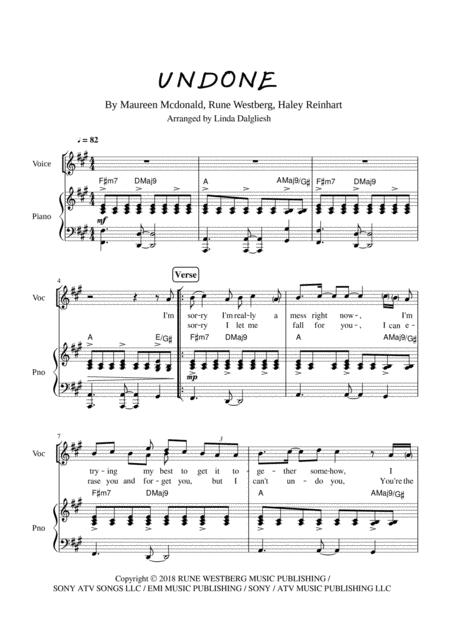 Undone - Haley Reinhart - Piano / Vocal