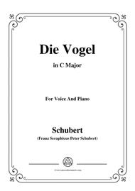 Schubert-Die Vogel,Op.172 No.6,in C Major,for Voice&Piano