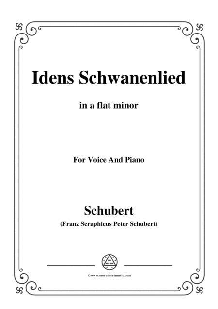 Schubert-Idens Schwanenlied,in a flat minor,for Voice&Piano