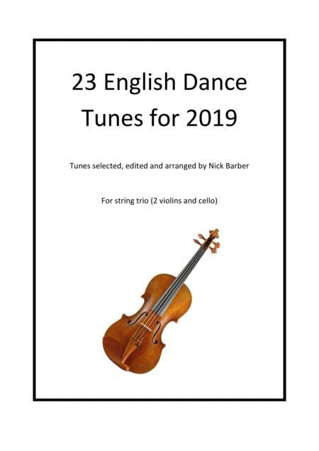 Twenty-three English dance tunes arranged for string trio