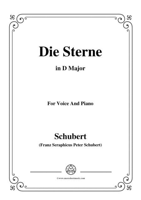 Schubert-Die Sterne,in D Major,for Voice&Piano