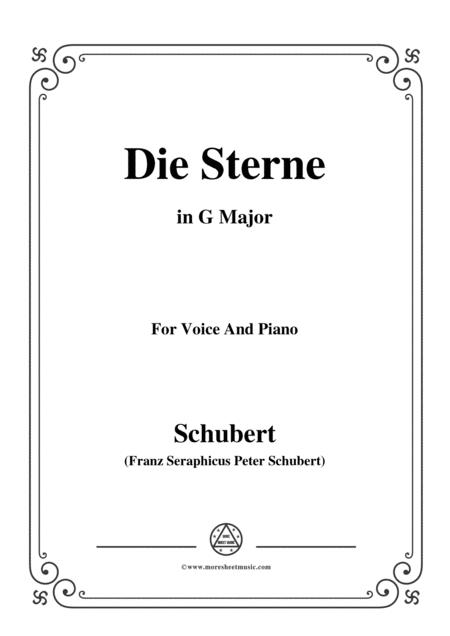 Schubert-Die Sterne,in G Major,for Voice&Piano