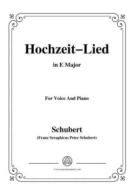 Schubert-Hochzeit-Lied,in E Major,for Voice&Piano