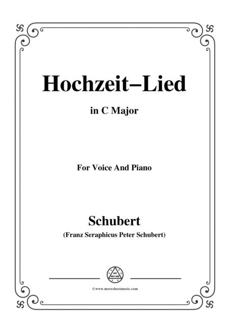 Schubert-Hochzeit-Lied,in C Major,for Voice&Piano