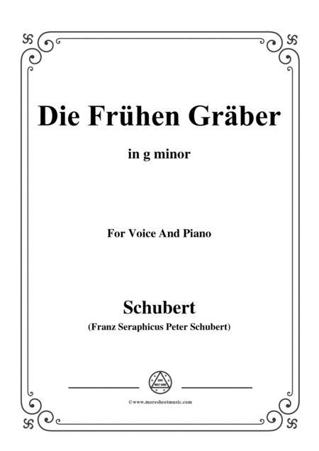Schubert-Die Frühen Gräber,in g minor,for Voice&Piano
