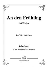 Schubert-An den Frühling,in C Major,for Voice&Piano