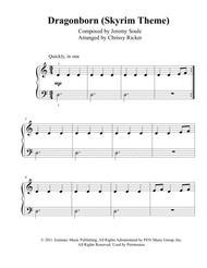 Dragonborn (Skyrim Theme) - beginner/big note piano