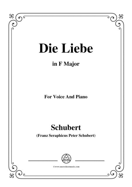 Schubert-Die Liebe,in F Major,for Voice&Piano