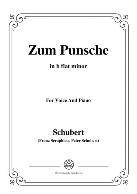 Schubert-Zum Punsche,in b flat minor,for Voice&Piano