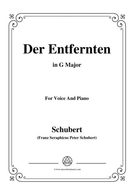 Schubert-Der Entfernten,in G Major,for Voice&Piano