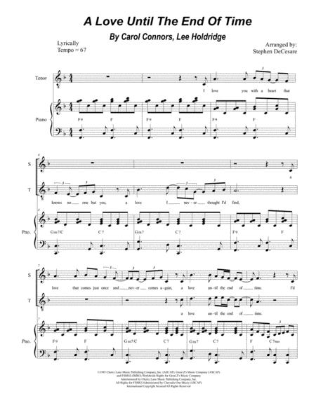 A Love Until The End Of Time (for 2-part choir - (Soprano and Tenor)