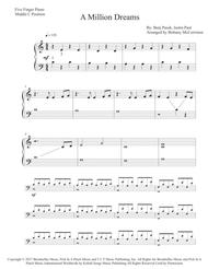 A Million Dreams - Five Finger Piano with Teacher Duet