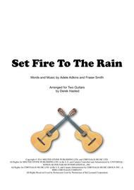 Set Fire To The Rain - 2 guitars