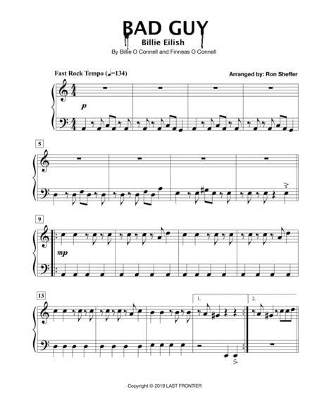 Download Bad Guy Billie Eilish Easy Piano In An Easier