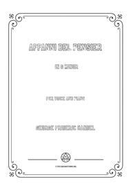 Handel-Affanni del pensier in g minor,for Voice and Piano