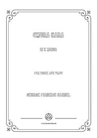 Handel-Ombra cara in e minor,for Voice and Piano