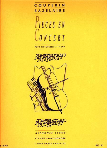 Pieces en Concert (Violoncelle et Quatuor a Cordes)/Violoncelle et Piano