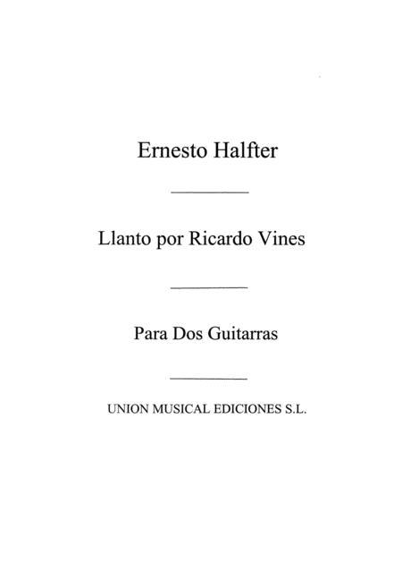 Llanto Por Ricardo Vines