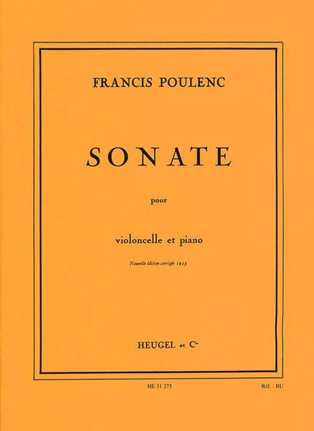 Sonate - Violoncelle et Piano