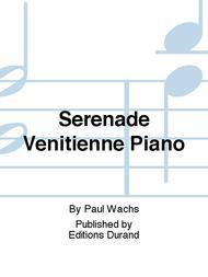 Serenade Venitienne Piano