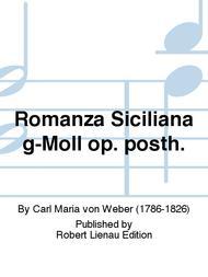 Romanza Siciliana g-Moll op. posth.