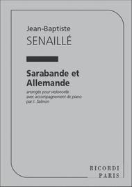 Sarabande Et Allemande Violoncelle Et Piano