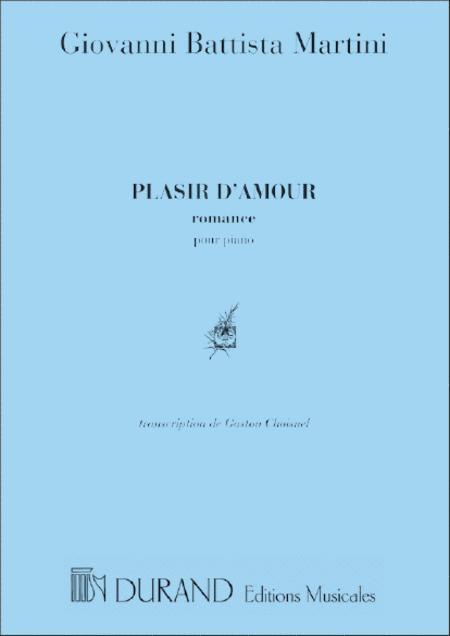Plaisir D'Amour Piano