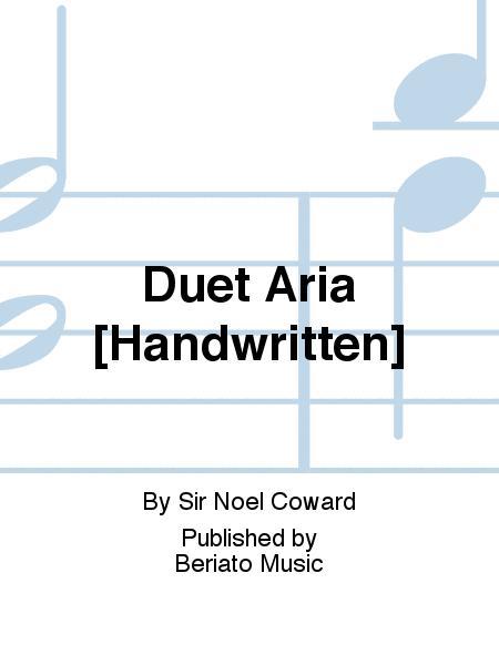Duet Aria [Handwritten]