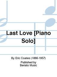 Last Love [Piano Solo]