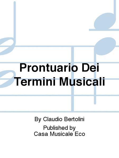 Prontuario Dei Termini Musicali