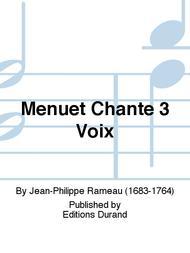 Menuet Chante 3 Voix