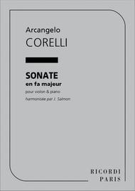 Sonate En Fa Violon Et Piano (Salmon