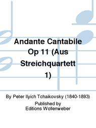 Andante Cantabile Op 11 (Aus Streichquartett 1)